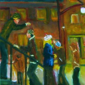 A Cold Night on the Stoop   8X10